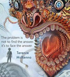 The problem is not to find the answer, it's to face the answer.  - Terence McKenna