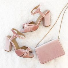 How to wear velvet in the summer? #Pink #Shoes | Collection by @SprinklesofAmy