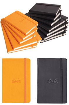 Lays mostly flat. stiffer cover. ivory paper. Smooth paper. 7mm ruling. 90g  Rhodia Dot grid webnotebook. Black 5.5 x 8.25