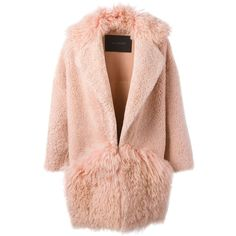 Blancha Shearling Coat found on Polyvore featuring outerwear, coats and shearling coat