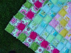 Customized Flannel Rag Baby Quilt    CUSTOMIZE IT by AuntBugs, $78.50
