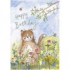 Happy Birthday Art, Cat Birthday, Birthday Cards, Cute Animal Illustration, Illustration Art, Animal Illustrations, Clark Art, Creation Photo, Cat Posters