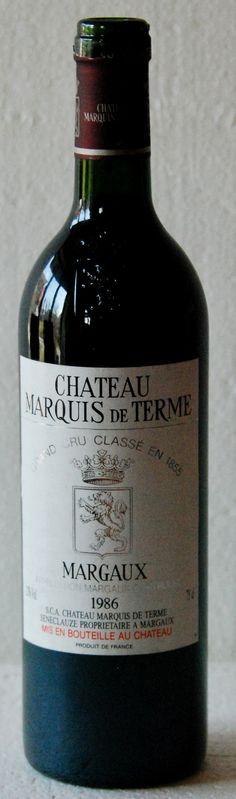 """12. März 2015 - Château Marquis de Terme: Marquis de Terme, 1986, Margaux, Bordeaux, Frankreich - Mein Schock, zwei Tage, nachdem ich einen Wein getrunken habe, der mir grossen Spass bereitet hat, ist folgende Aussage von René Gabriel: """"Er hat sich sehr schlecht entwickelt. Einer Bratensauce würde er so viel Struktur verleihen, dass man glatt ohne Fleisch auskommen könnte"""". Und er gibt dem Wein gerademal 12/20 Punkte. Habe ich da einen andern Wein getrunken?"""