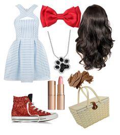 """""""Dorothy Wizard of Oz"""" by princessmal on Polyvore featuring Topshop, Converse, Bling Jewelry, Picnic at Ascot, Charlotte Tilbury and Bobbi Brown Cosmetics"""