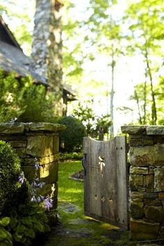 A gate like this to the pear tree... I'd credit the photo but I don't know where it's from.