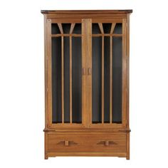 Gamble House display cabinet (Pasadena Bungalow collection) by Stickley.