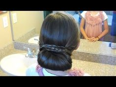 Beautifully Simple Braid Wrapped Chignon {wore this to the back door theatre gala...a fairly easy DIY updo}