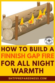 The Finnish gap fire is particularly interesting, effective and useful in the world of firecraft because it can sustain itself overnight. Survival Supplies, Emergency Supplies, Survival Tools, Survival Prepping, Emergency Preparedness, Bushcraft Camping, Camping Survival, Homestead Survival, Wilderness Survival