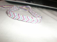 cotton candy bracelet light purple, light blue, cream and white by redhoodgirl on Etsy