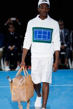 Fashion Week Menswear 2015.  Tendance : l'allure sportWear. By Umit Benan ( référence au tennis )