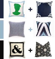 blue series - How to mix & match patterns - blog pix