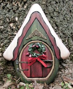 Christmas Chalet Fairy Door