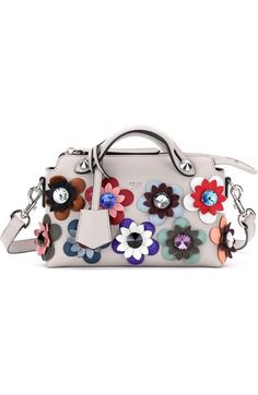 61c8c90f0191 Fendi  Mini By the Way with Flowers  Convertible Leather Crossbody Bag  available… White