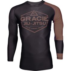 Listed Price: $54.99 Brand: Gracie Jiu-Jitsu Gracie Jiu Jitsu Long Sleeve Ranked Rashguard represent your skill and passion for Jiu��_