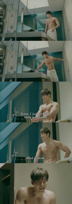 Kim Woo Bin's shirtless scene in the K-drama, Uncontrollably Fond, Episode 4. Yes, he's hot indeed, that body! But his acting...even hotter. The feels...my goodness, I could not stop watching! He definitely makes you feel his pain and has you in tears in numerous episodes.  #KimWooBin #UncontrollablyFond #DramaFever