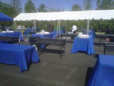 CATERING BBQ SET UP FOR 3,000 PEOPLE