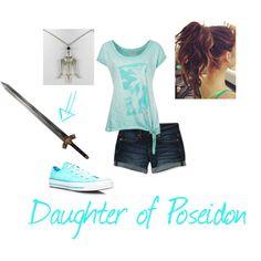 Daughter of Poseidon: casual Percy Jackson Jewelry, Percy Jackson Outfits, Percy Jackson Fan Art, Percy Jackson Books, Percy Jackson Fandom, Character Inspired Outfits, Disney Inspired Outfits, Themed Outfits, Disney Outfits