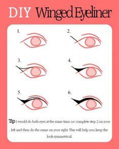 DIY Winged Eyeliner | Pampadour