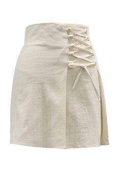 Maci Asymmetric Lace-Up Skirt Denim Skirt Outfits, Casual Outfits, Skirt Fashion, Fashion Outfits, Cheap Fashion, Fashion 2017, Street Fashion, Womens Fashion, Lace Up Skirt