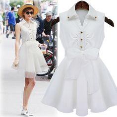 White lapel bodycon dress  GBLZP692