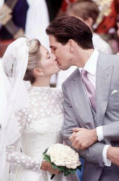 The wedding of Crown Prince Pavlos of Greece and Marie-Chantal Miller (Princess Marie-Chantal), 1 July 1995 #Greekroyals