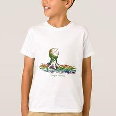 #Octopus Running Art Designs T-Shirt - #cool #kids #shirts #child #children #toddler #toddlers #kidsfashion