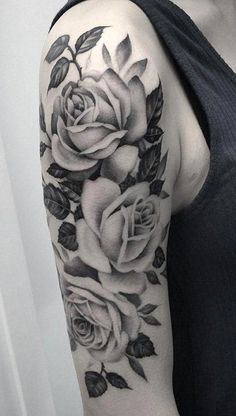 Rose half sleeve tattoo for girl - 100 Meaningful Rose Tattoo Designs , ., Rose half sleeve tattoo for girl - 100 Meaningful Rose Tattoo Designs , . Rose half sleeve tattoo for girl - 100 Meaningful Rose Tat. Arm Sleeve Tattoos For Women, Rose Tattoos For Women, Best Sleeve Tattoos, Tattoo Sleeve Designs, Body Art Tattoos, Tattoo Arm, Forearm Tattoos, Tatoos, Ivy Tattoo