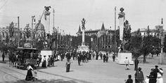 Barcelona, plaça Catalunya 1914.