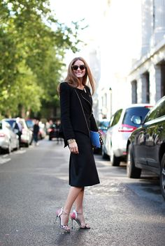 60 Inspiring Street-Style Snaps From LFW #refinery29  http://www.refinery29.com/london-fashion-week/street-style#slide7  No prints please! It's Olivia Palermo outside the Peter Pilotto show.