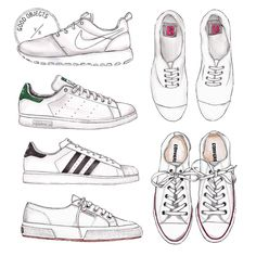 """Good Objects Illustration on Instagram: """"Good objects - #damndaniel ! Back at it again with the white kicks variations... #goodobjects #illustration"""""""