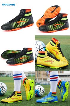 [Visit to Buy] Socone New Arrival Soccer Shoes Men/kid/boy Outdoor Football Boots Outdoor Athletic Sport Sneakers Professional chuteira futebol #Advertisement