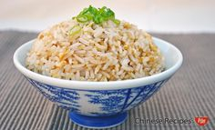 Egg-fried rice is easy to prepare and tastes great as a meal or on its own.