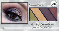 Fabulous Limited Edition Eye Quads from Mary Kay. Finish with black gel liner and Ultimate Mascara. Free Shipping. SHOP: www.marykay.com/vcarretta