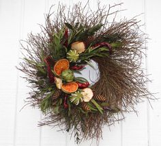 Fruit Wreath Kitchen Wreath Twig Wreath Fall Fruit