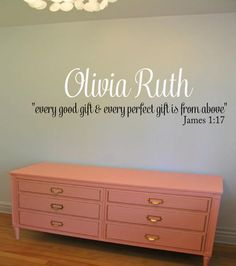 Every good gift and every perfect gift is from above Wall Decal - Scripture Decal Bible Verse Decal James 117 Baby Nursery Decal Wall Decor & I am a gift from God Wall Decal - Baby Nursery KJV Scripture Vinyl ...