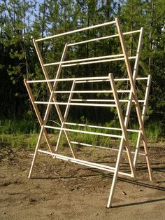 Laundry - Homestead Drying Racks - Homestead Store.  56' lineal feet of drying space.  Perfect for sheets, bedding, towels.