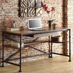 Riverside Furniture Camden Town Writing Desk in Hampton Road Ash
