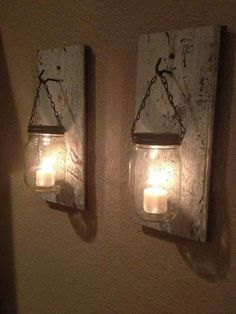 Neat idea - use remote control flameless candles.