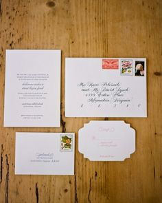 """See the """"The Invitation"""" in our A Traditional and Formal Navy-Blue and White Wedding in Washington, D.C. gallery"""