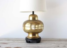 Hollywood Regency Gold Table Lamp