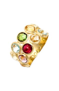 Marco Bicego 'Mini Jaipur' Double Row Semiprecious Stone Ring available at #Nordstrom