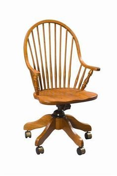 Amish Continuous Arm Hertford Windsor Desk Chair