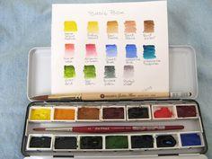 A basic watercolor palette.