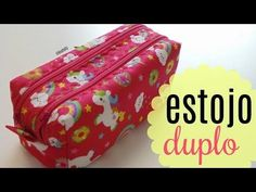 Sewing Backpack Tutorial Pencil Cases New Ideas Sewing Patterns Free, Sewing Tutorials, Sewing Hacks, Dress Patterns, Backpack Tutorial, Pouch Tutorial, Box Video, Clutch Pattern, Sewing Projects For Kids