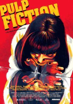 Dos rayas. Pulp Fiction (Quentin Tarantino, 1994) - Los carteles que nunca viste de las películas más famosas - Libertad Digital