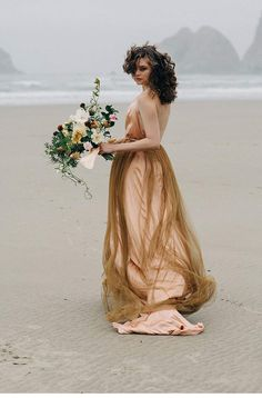 Footprints in the sand - Emily Riggs Bridal Session