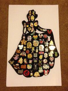Disney Cinderella Princess pin display. Hold by PinDisplaysPlus