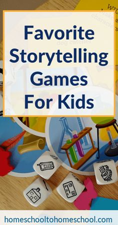 Check out these storytelling games for kids that we LOVE, including storytelling and creative writing prompts. Great for kids with reading challenges. Play Based Learning, Learning Through Play, Kids Learning, Learning Websites, Creative Writing Prompts, Board Games For Kids, Reading Resources, Homeschool Curriculum, Stories For Kids