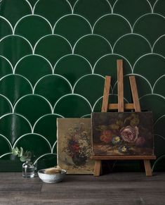 Soho, Scallop Tiles, Tuile, Vibrant Colors, Colours, Handmade Kitchens, Art Deco Home, Best Kitchen Designs, Room Planning