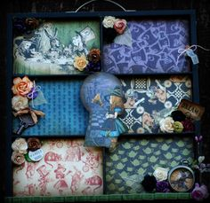 Halloween in Wonderland Altered Photo Tray by Katie from Memories2Keepsakes. #graphic45